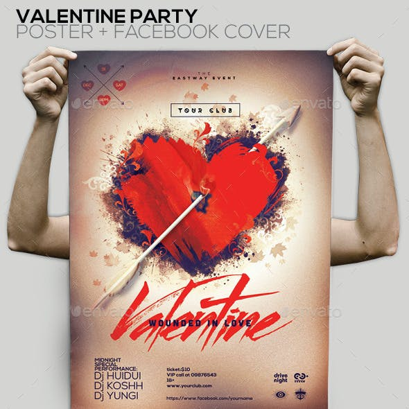 Valentine Party Flyer/Poster/Facebook Cover