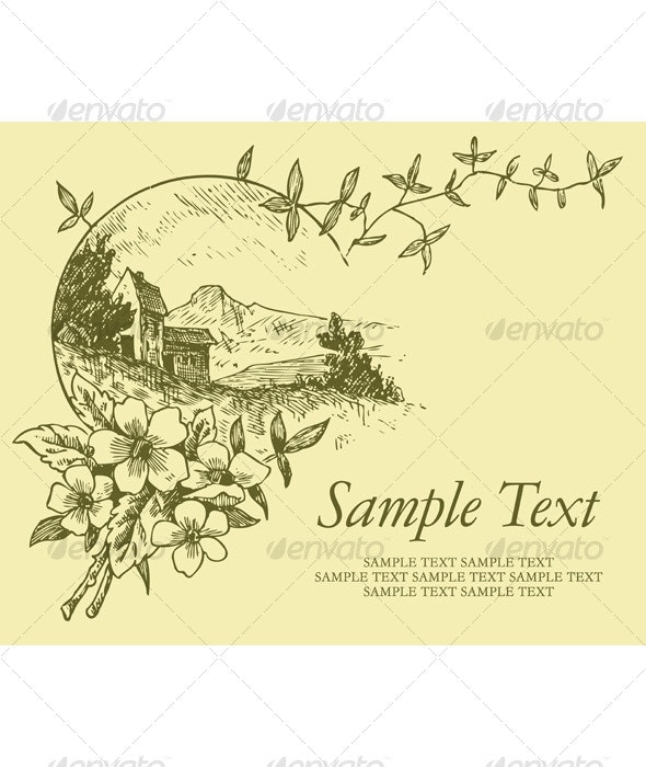 Vintage design (vector) - Backgrounds Decorative