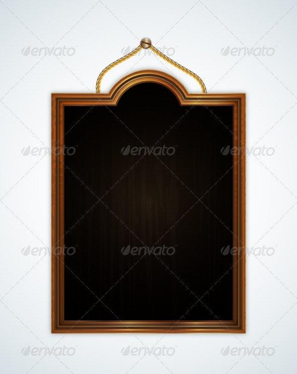 Vector Blackboard - Man-made Objects Objects