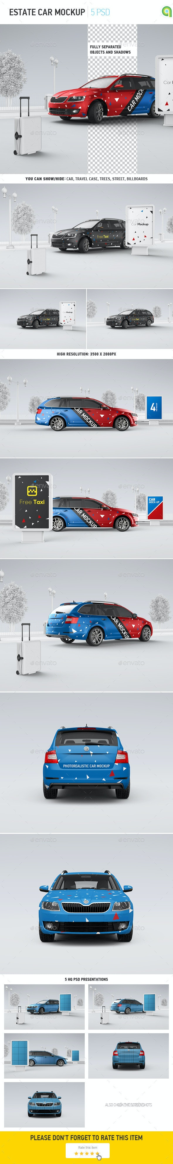 Car Mockup | Billboard Mock-up - Vehicle Wraps Print