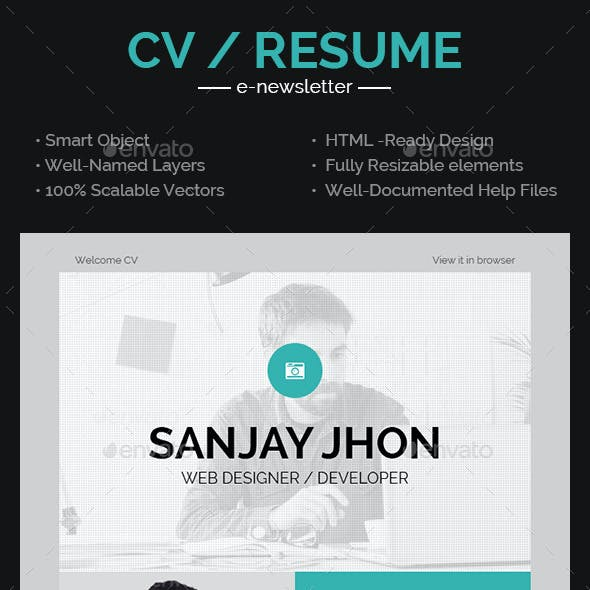 CV Email Template