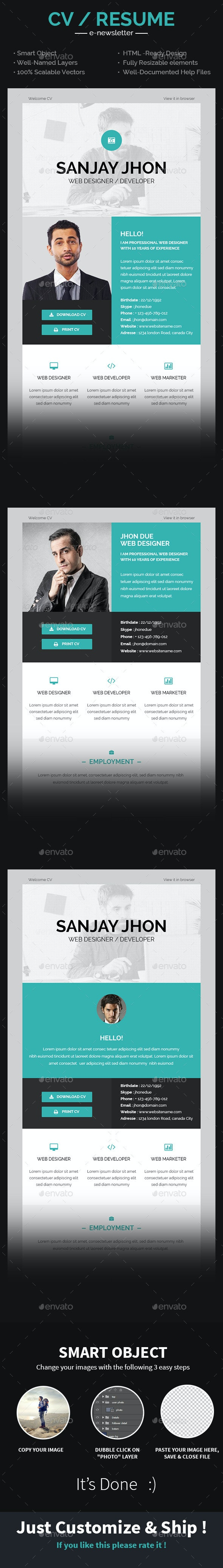 CV Email Template - E-newsletters Web Elements
