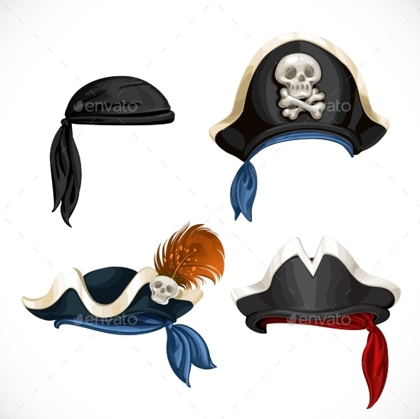 Pirate Hats - Objects Vectors