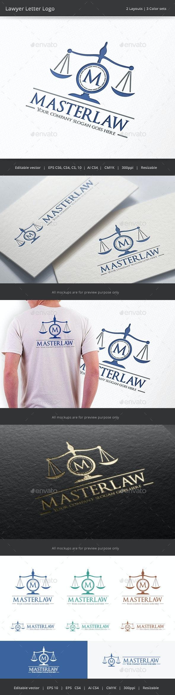 Lawyer Letter Logo - Objects Logo Templates