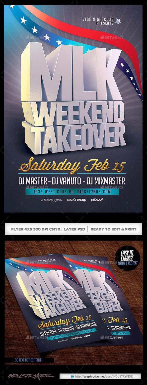 MLK Weekend Flyer Template V2 - Holidays Events