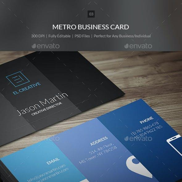 Metro Business Card - 03
