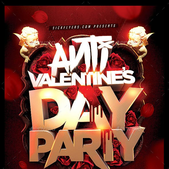 Anti Valentines Day Flyer
