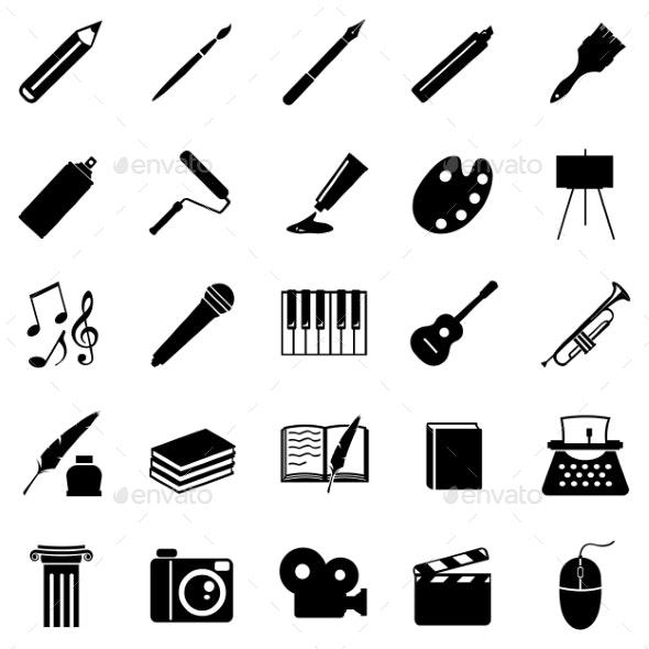 Set of Art Icons - Miscellaneous Conceptual