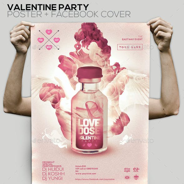 Love Dose Valentine Party Flyer/Poster/Facebook Co