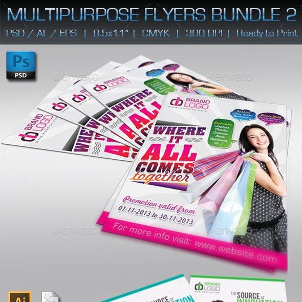 Creative Multipurpose Flyers Bundle 2