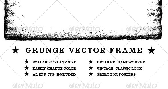 Grunge Vector Frame - Borders Decorative