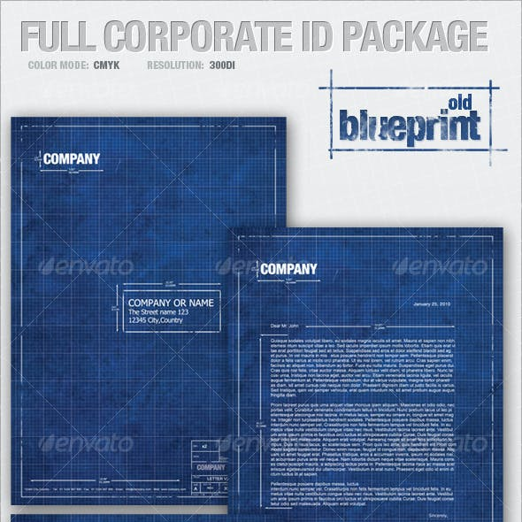 Full Corporate ID Package - old BLUEPRINT