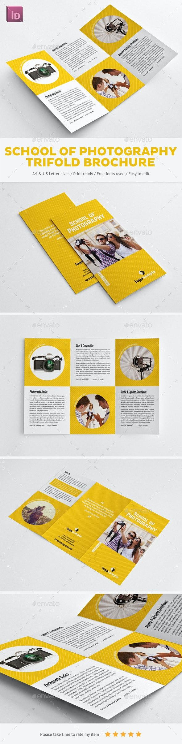 School of Photography Trifold Brochure - Informational Brochures