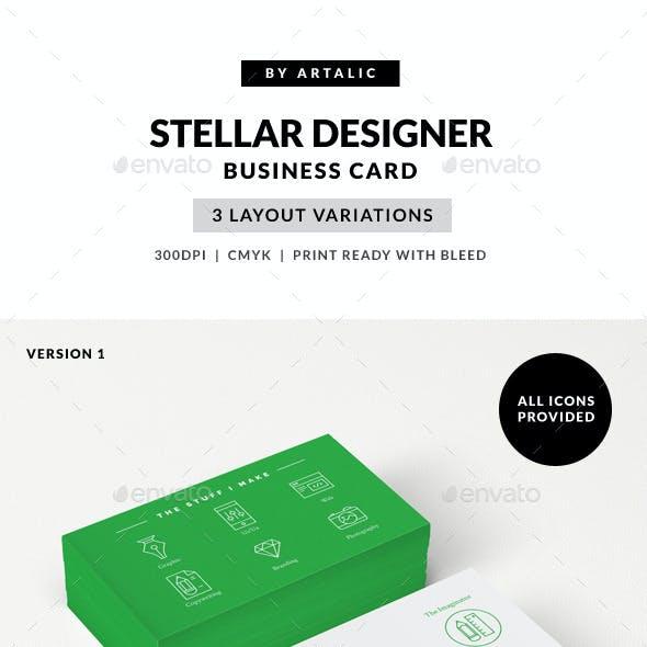 Stellar Designer Card