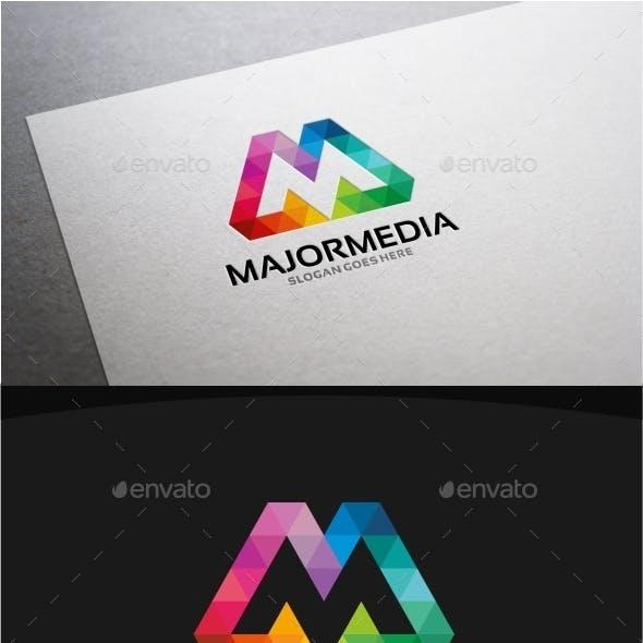 Majormedia M Letter Logo