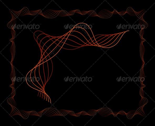 7 Lines Oscillating Frame - Borders Decorative