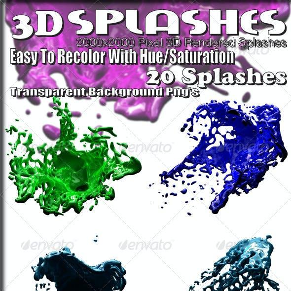 3D Rendered Splashes