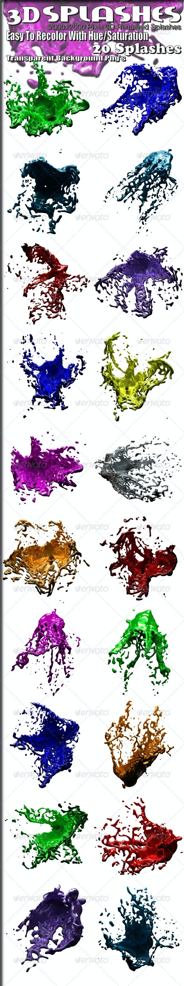 3D Rendered Splashes - Abstract 3D Renders