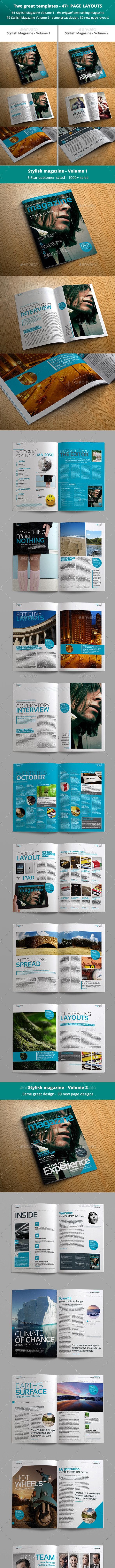 Stylish Magazine Bundle - Magazines Print Templates