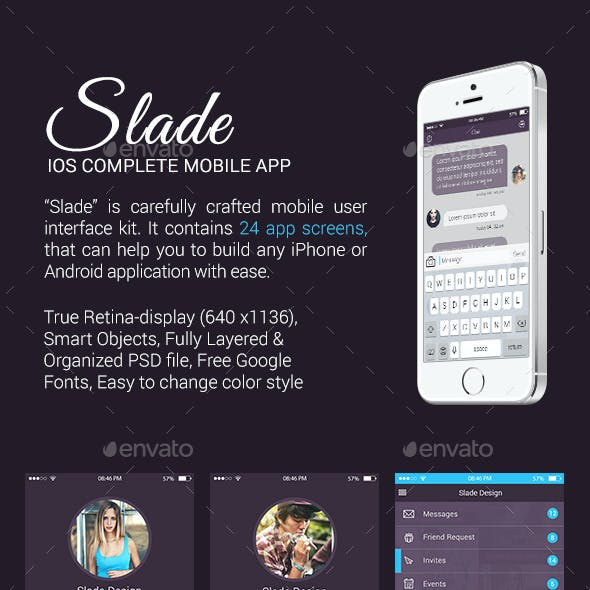 Slade iOS Complete Mobile App