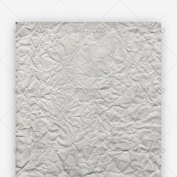 High-Res Wrinkled Paper Texture