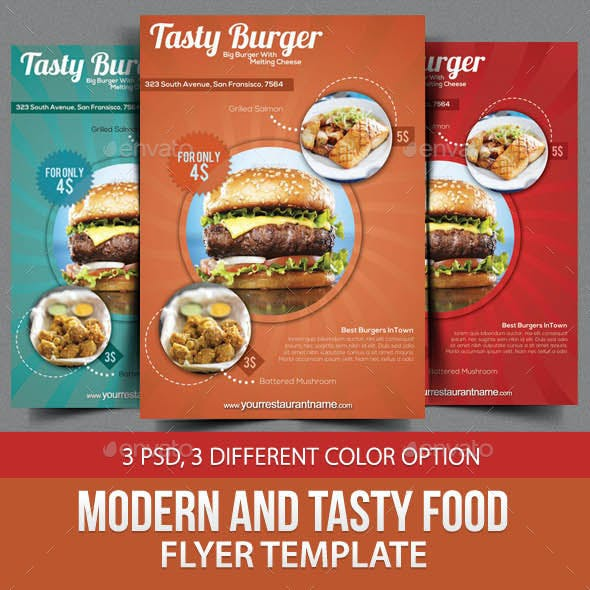 Modern and Tasty Food Flyer Template