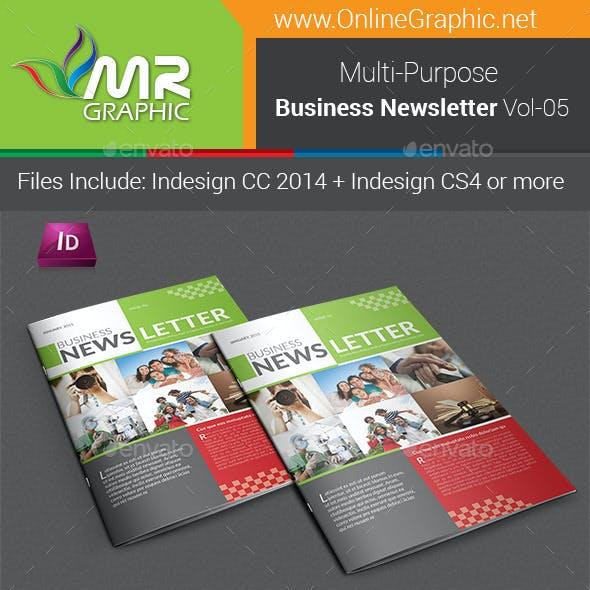 Multipurpose Business Newsletter Template Vol-05
