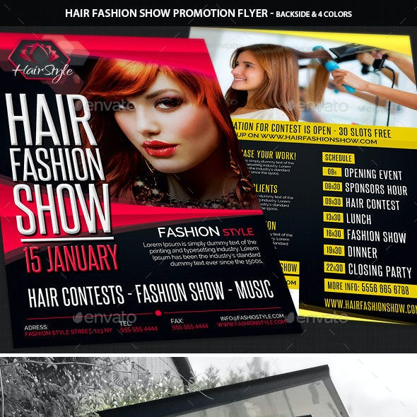 Hair Fashion Show Promotion Flyer