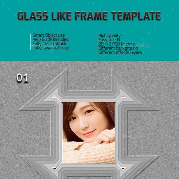 Glass Like Frame Templates