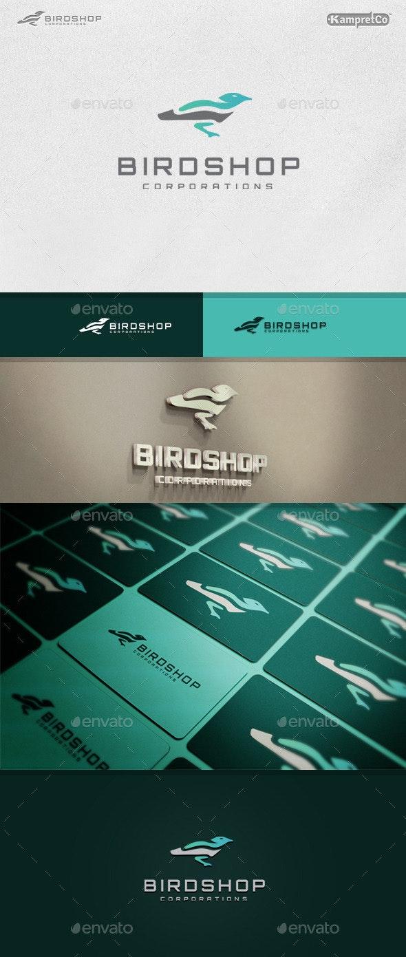 Bird Shop Logo - Vector Abstract