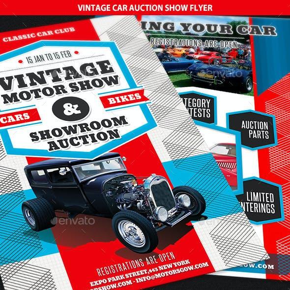 Vintage Car Auction Show Business Flyer