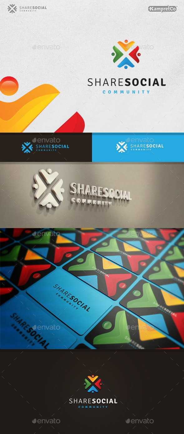 Share Social Logo - 3d Abstract