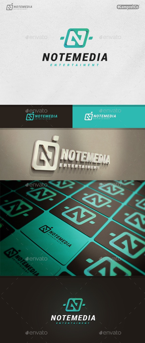 Note Media Logo - Letters Logo Templates