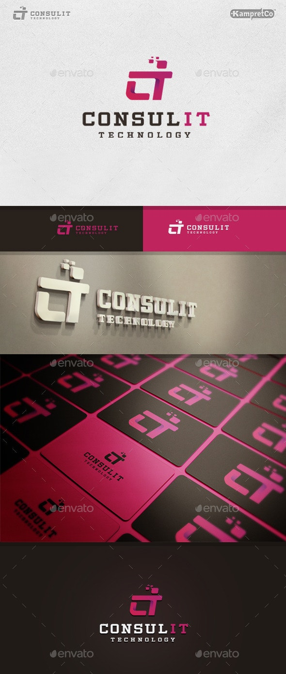 IT Consult Logo - Letters Logo Templates