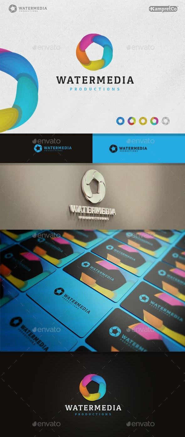 Aqua Water Logo - 3d Abstract