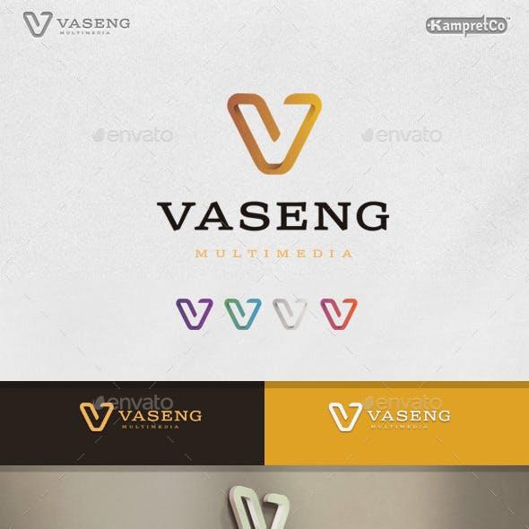 Vision V Letter Logo