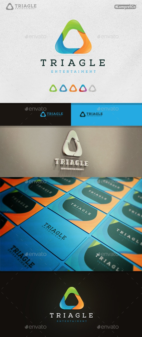 Triagle Spiral Logo - 3d Abstract
