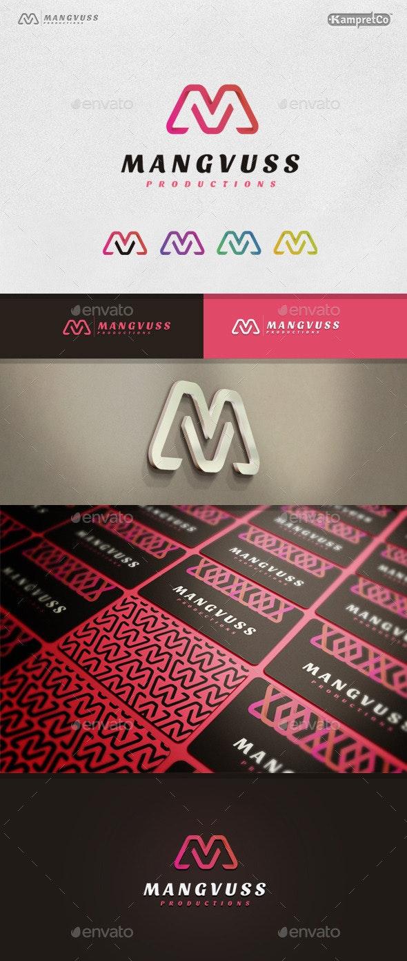 M V Letter Logo - Letters Logo Templates