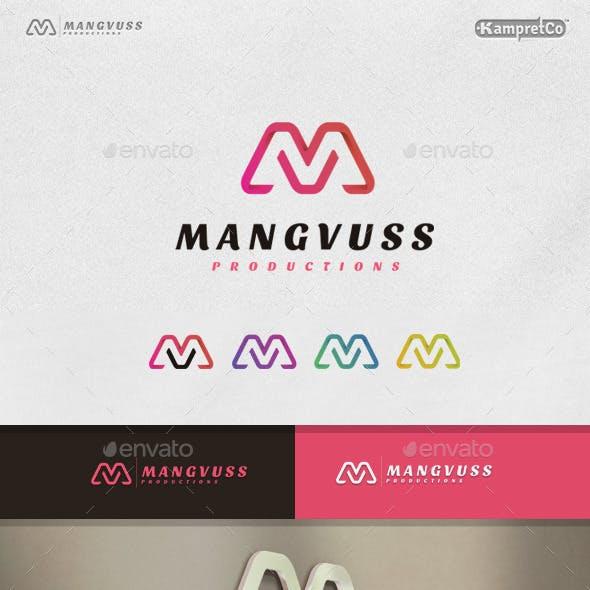 M V Letter Logo