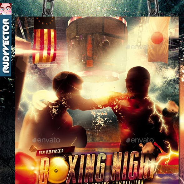 Boxing Fight Night Flyer Template