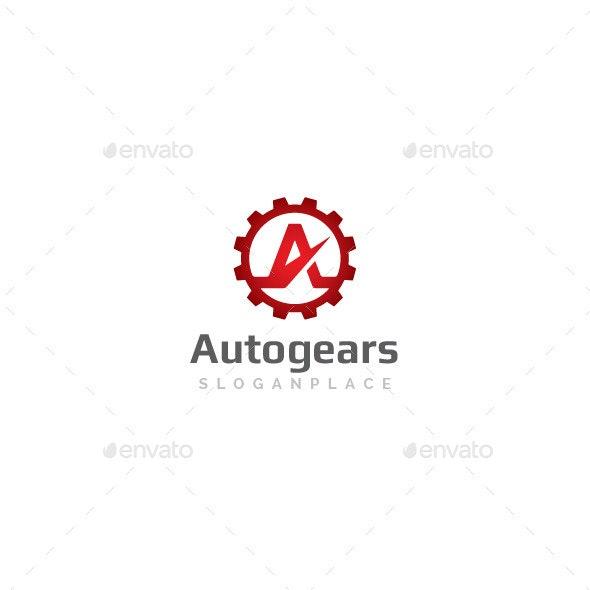 A Letter Gear Logo - Letters Logo Templates