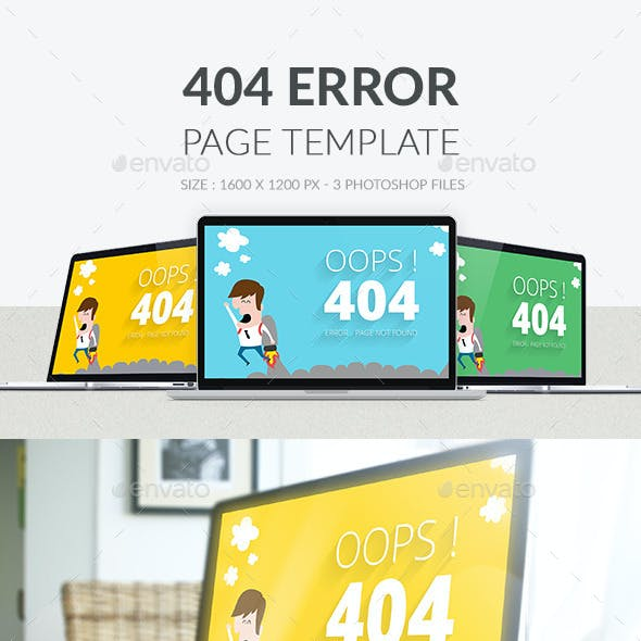 404 Error Page PSD