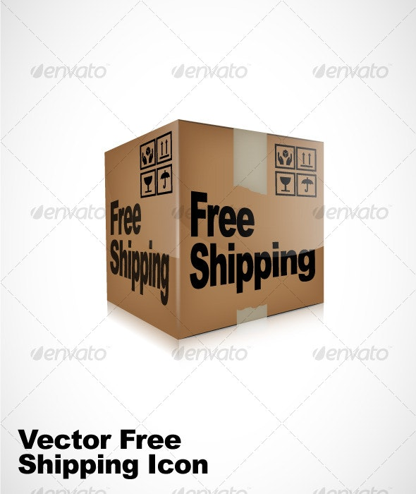 Vector Free Shipping Box Icon - Web Elements