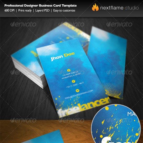 Professional Designer Business Card Template