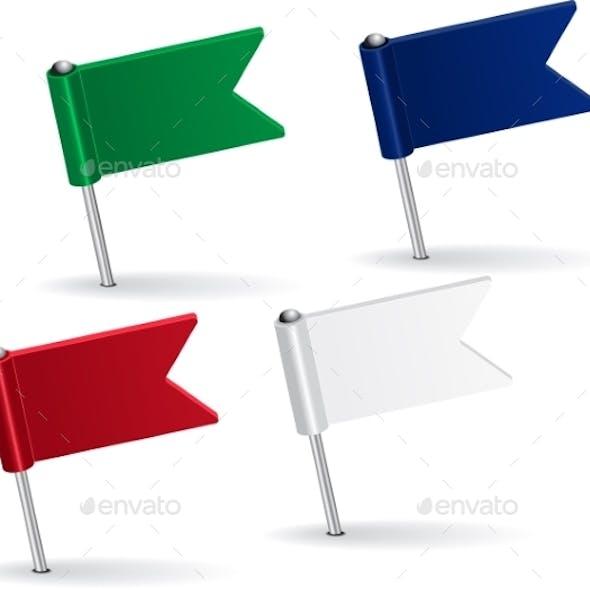 Flag Pin Icons
