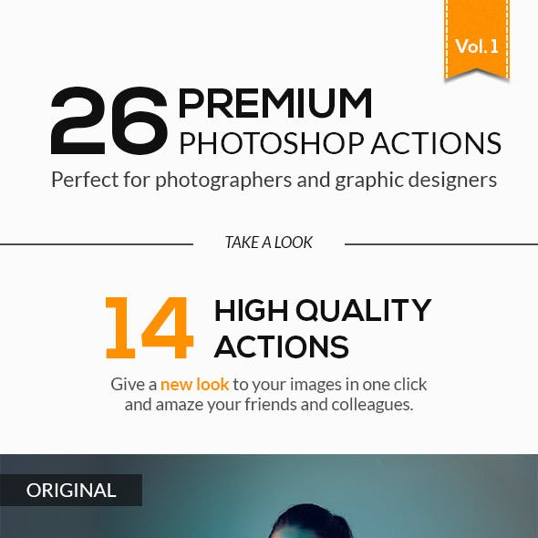 26 Premium High Quality Photoshop Actions