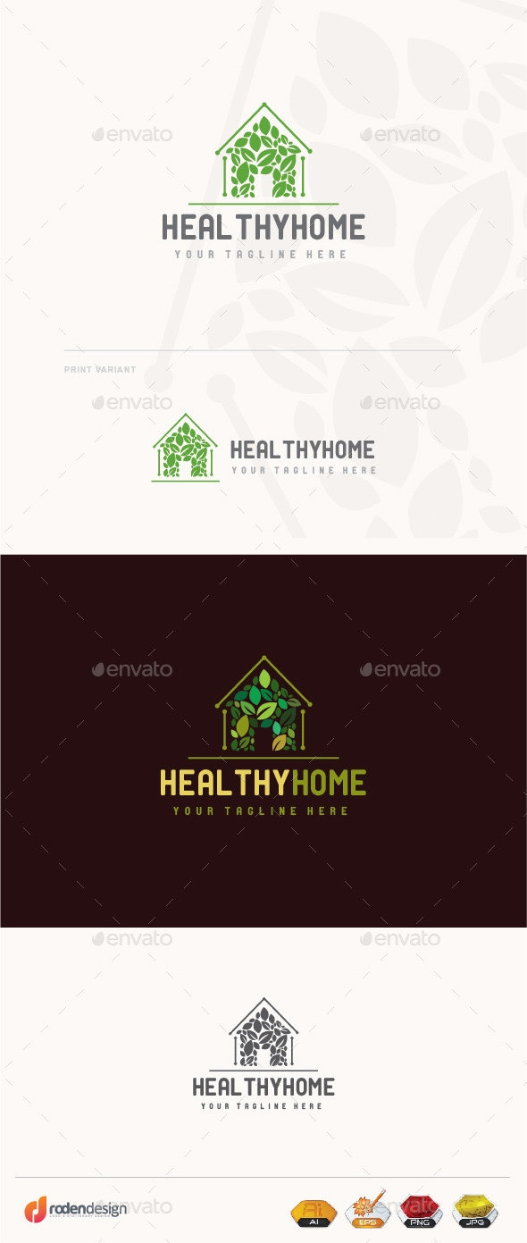 Healthy Home Logo - Buildings Logo Templates