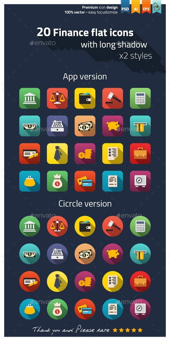 Finance Flat Icons - Business Icons