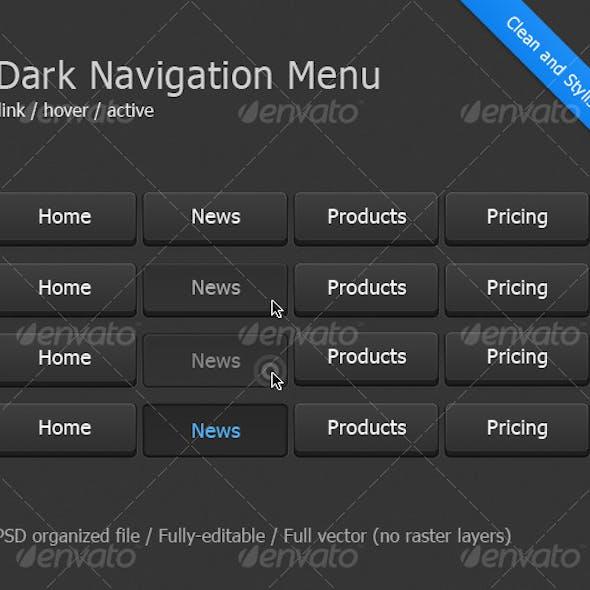 Dark Navigation Menu