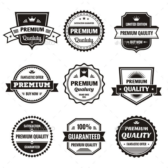 9 Labels and Badges - Vector Set